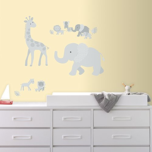 RoomMates Baby Safari Animals Peel And Stick Giant Wall Decals