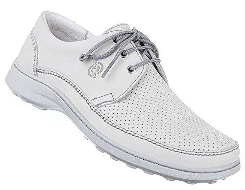 Herren Halbschuhe Schuhe Leder außen und innen Schnürschuhe Übergrößen elegant Business schwarz weiss braun 41 42 43 44 45 46 47 Beige