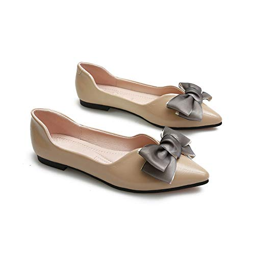 bow autumn fashion and Spring FLYRCX flat ladies work single shoes casual shallow shoes mouth C shoes ntEwESxYq