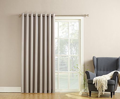 Sun Zero Becca Energy Efficient Patio Door Curtain Panel, 100