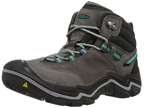 KEEN Women's Laurel Mid WP-w Trail Runner, Steel Grey/Baltic, 7 M US by KEEN