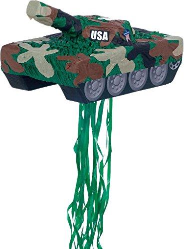 YA OTTA PINATA 30229 Tank Pull String Pinata - paper -