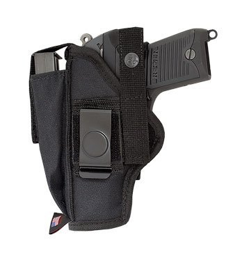 "Price comparison product image RUGER 22 / 45 TARGET (WITH 4"" BBL.) EXTRA-MAG OWB BELT HOLSTER FROM ACE CASE (100% MADE IN AMERICA)"