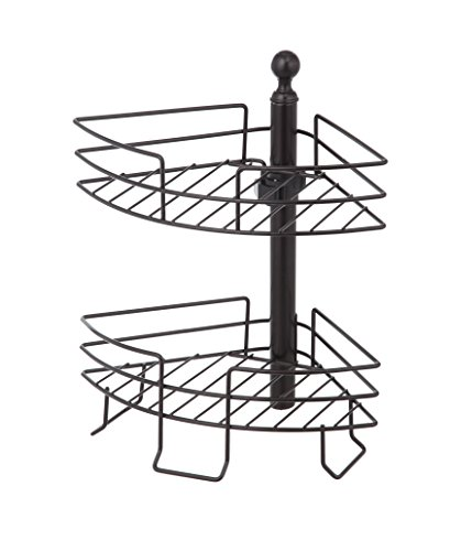 UPC 889526071301, HomeZone 2 Tier Standing Adjustable Wire Caddy, Oil-Rubbed Bronze Finish