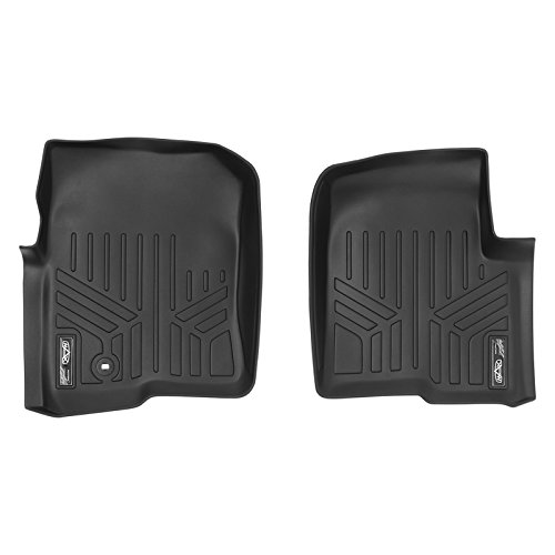 SMARTLINER Floor Mats 1st Row Liner Set Black for 2004-2008 Ford F-150/2006-2008 Lincoln Mark LT (All Models)