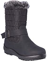 wolfsburg2 Womens Winter Boots Mid-Cap Fur Lining Cold-Weather Shoes