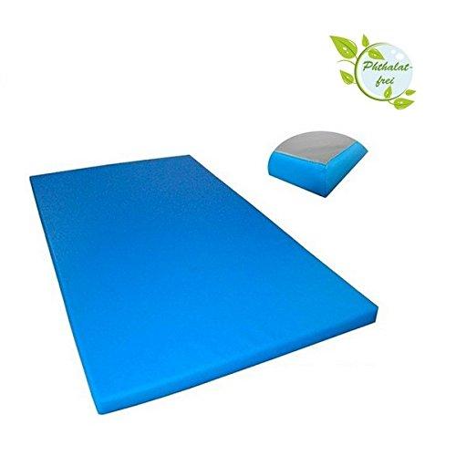 Turnmatte 200 x 100 x 8 cm mit Antirutschboden RG 20 (sehr weich), Farbe:hellblau
