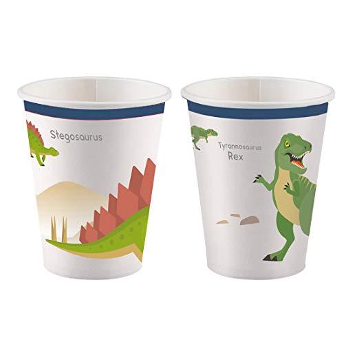 Amakando 8 extraordinarios Vasos de cartón Dinosaurio ...