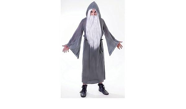 Struts Fancy Dress Estilo Gandalf Adulto Mago Gris Traje ...