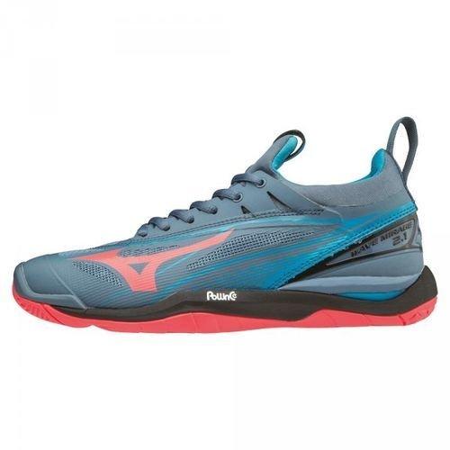Mizuno Mirage noir bleu corail 1 2 Damen nuit Wave Sneakers Aq7ErAa