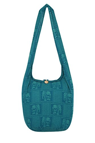 Turquoise Thai Indic Hippie Monk Sling Thai Bag Hippie 2 81SO8w