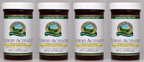 Naturessunshine thyroïde activateur soutien thyroïde HerbalCombination supplément 100 Capsules (Pack de 4)
