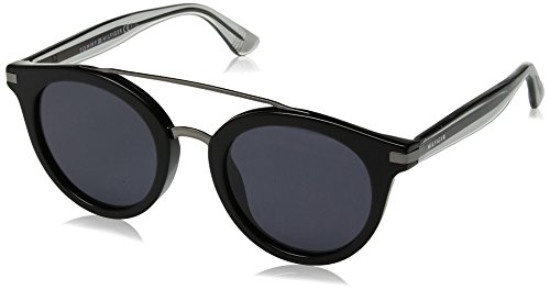 Tommy Hilfiger Women's Th 1517/s Round Sunglasses, Black/Grey Blue, 48 mm