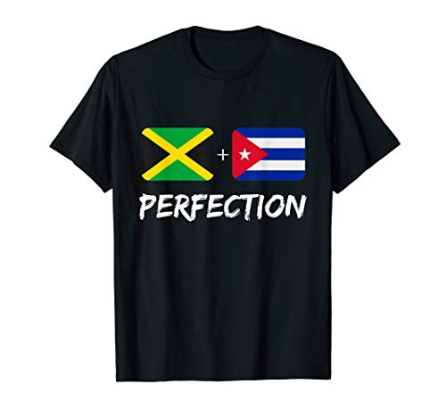 Jamaican Plus Cuban Perfection Heritage Flag Gift T-Shirt