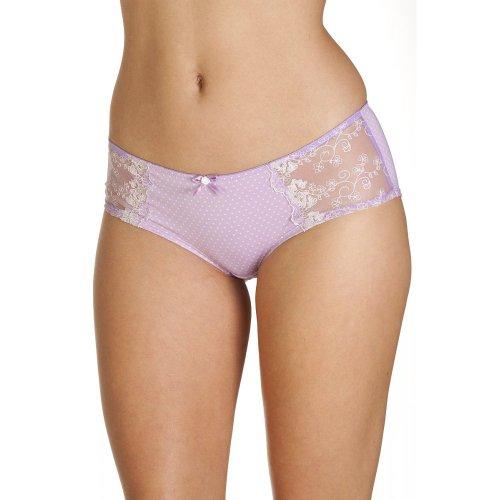 Camille Womens Ladies Underwear Pin Dot Lilac Purple Boxer Shorts Briefs Size 4-14 4/6 PURPLE