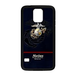 Marine Corps Metal Pattern Anchor Samsung Galaxy s5 Case Shell Cover (Laser Technology)