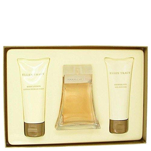 Ellen Tracy Gel Perfume (Ellen Tracy By Ellen Tracy Gift Set -- 3.4 Oz Eau De Parfum Spray + 3.4 Oz Body Lotion + 3.4 Oz Shower Gel For Women)