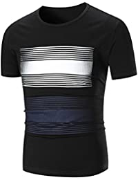 "<span class=""a-offscreen"">[Sponsored]</span>Men's Casual Graphic T-Shirt Round Neck Short Sleeve Pullover Tops Blouse"