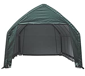ShelterLogic Pantalla Garage Garaje en de Caja a 23,8M² Gris, 390x 610cm (BXT); Pantalla Garaje, Garaje y Pantalla Dispositivos Casa