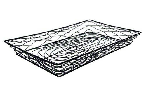 - American Metalcraft BNBB13202 Rectangular Birdnest Wire Basket, Black