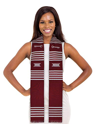 Make Your Own Custom DIY Kente Stole (Crimson Maroon and White)
