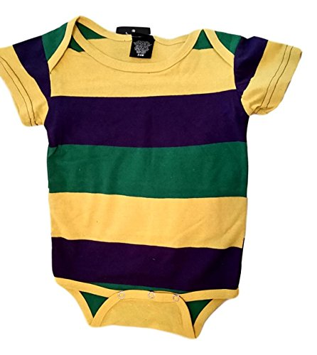 - Mardi Gras Stripe Purple Green Yellow Knit 12 Mth Baby Infant Bodysuit