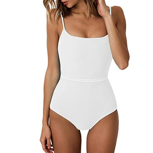 Londony ◈ Women's High Cut Low Back Bathing Suits Athletic Training Adjustable Strap One Piece Swimsuit Swimwear White (10 Best Foosball Videos)