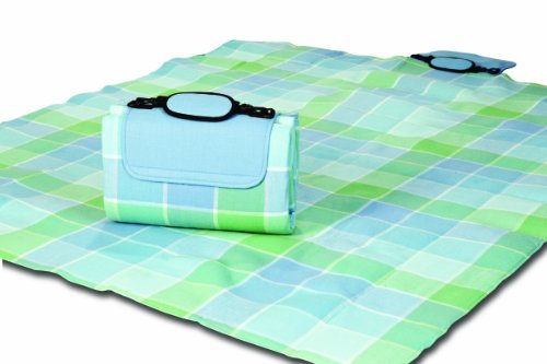 (Mega Mat 100% Waterproof Backing All Season Picnic Blanket, Beach Mat and More Opens to 68