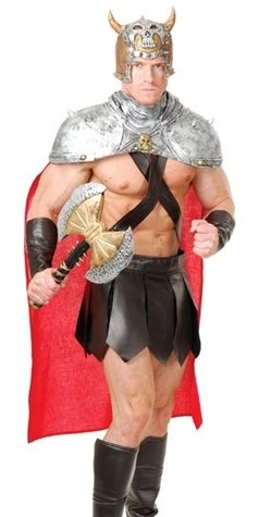 Charades Roman Greek Spartan Gladiator Warrior King Costume XL -