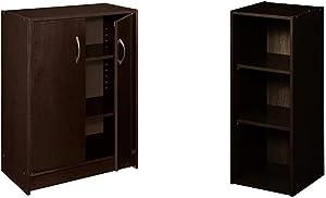 ClosetMaid 8925 2-Door Stackable Laminate Organizer, Espresso & 8985 Stackable 3-Shelf Organizer, Espresso