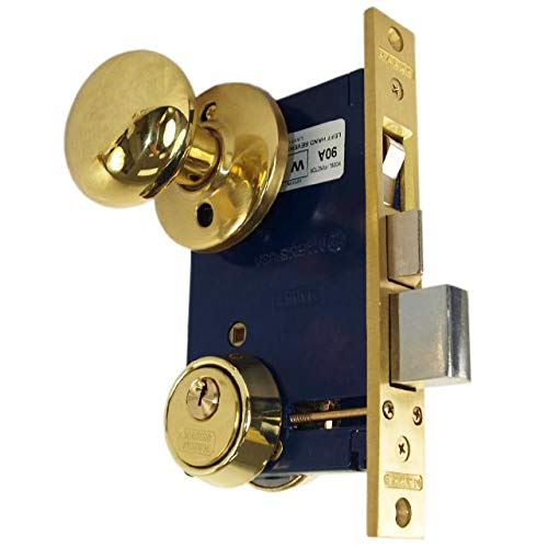 Marks 22AC RHR Double Cylinder Iron Gate Ornamental Mortise Lock Set with 2-1/2