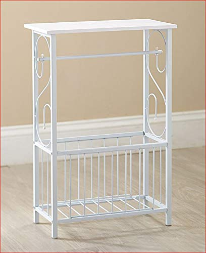SCROLL DESIGN BATH ABTHROOM TABLE TOILET TISSUE MAGAZINE HOLDER