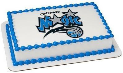 Awe Inspiring Amazon Com Orlando Magic Licensed Edible Cake Topper 3703 Funny Birthday Cards Online Elaedamsfinfo