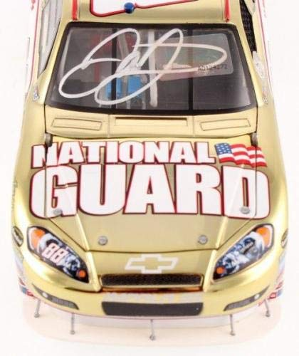 Dale Earnhardt Jr Signed Gold National Guard 1:24 Die Cast Car SI+Earnhadt Holo Autographed Diecast Cars