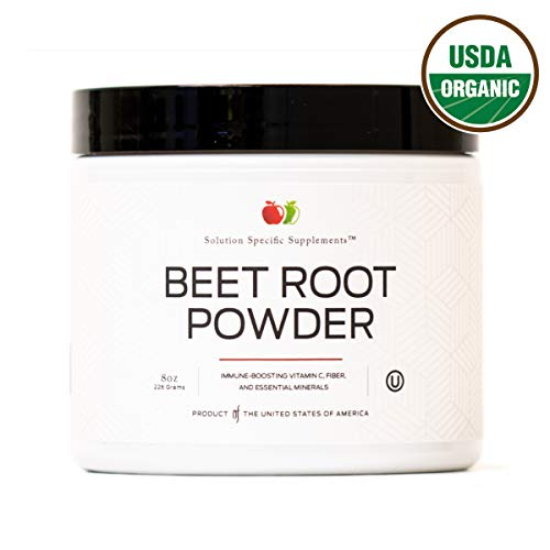 Pure Organic Beet Root Powder Supplement - 8oz 60 Serving Pure Organic Beetroot Juice Powder & Bulk Raw Concentrate ()
