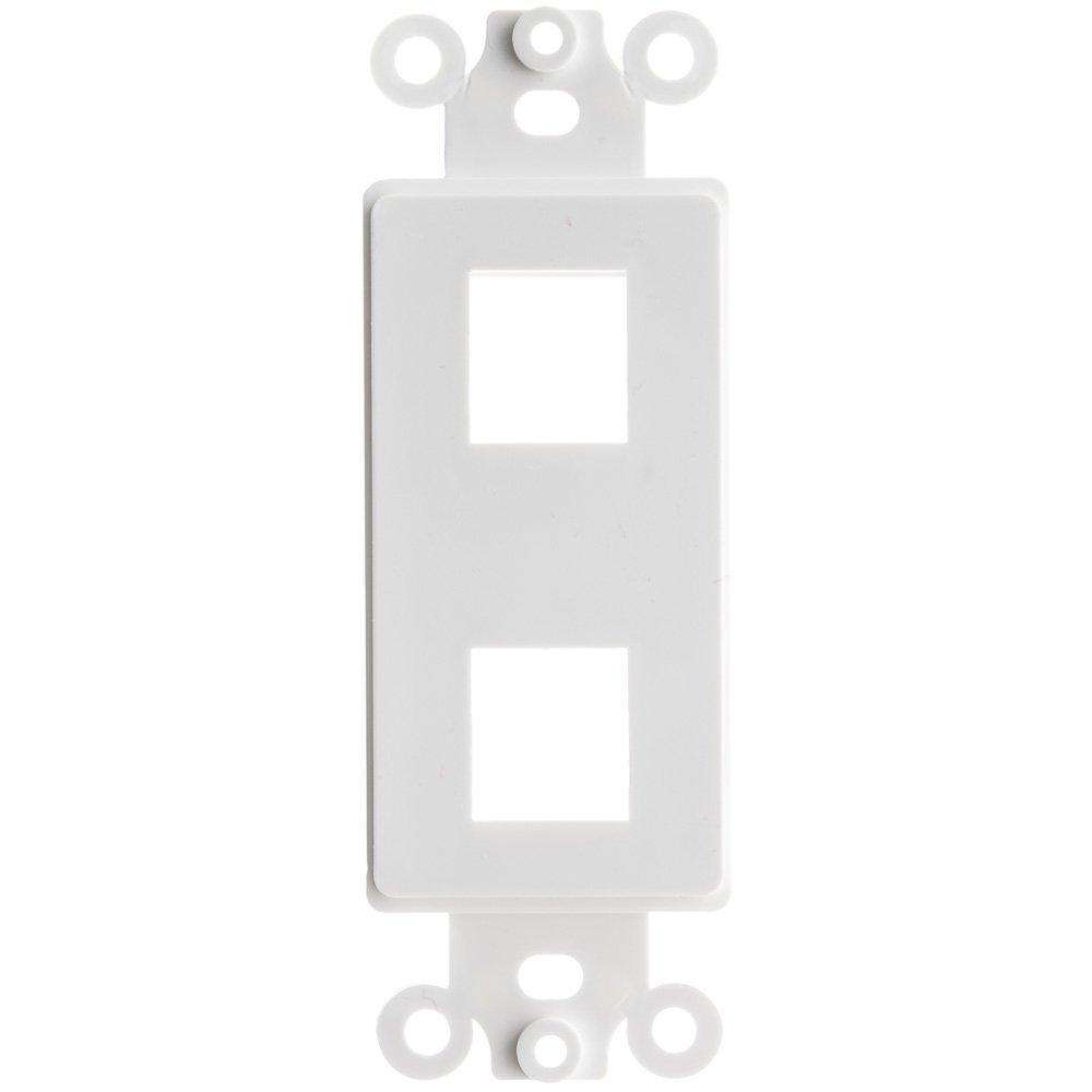 【正規取扱店】 ACLデコラ2穴for Keystoneジャックウォールプレート挿入 ホワイト 5、ホワイト ホワイト ACL-529058 B074TFGF8Y B074TFGF8Y 5, KAGU208(カグ208):50fa5c21 --- a0267596.xsph.ru