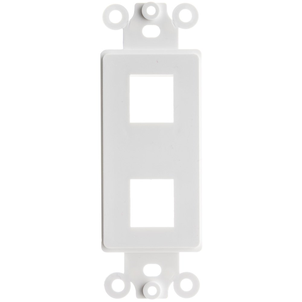 ACL Decora 2 Hole for Keystone Jack Wall Plate Insert, White, 100 Pack by ACL