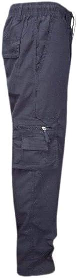 GUOCAI Mens Military Loose Straight Leg Pockets Cargo Pants