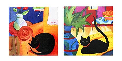 Collection Ceramic Tile - ACK 2 Pcs Ceramic Art Tile Set, Cats Collection, 4
