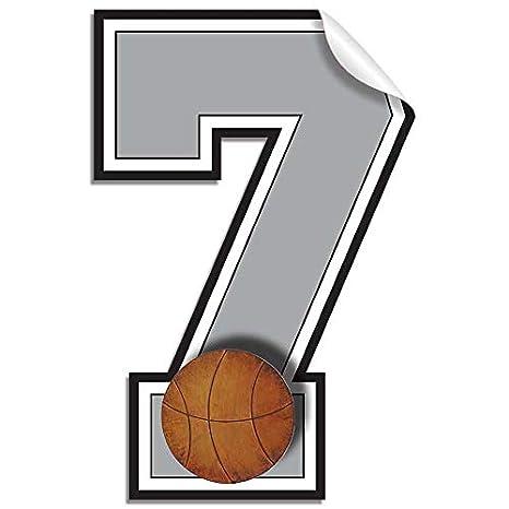 Amazon.com: pared números calcomanías baloncesto Jersey ...