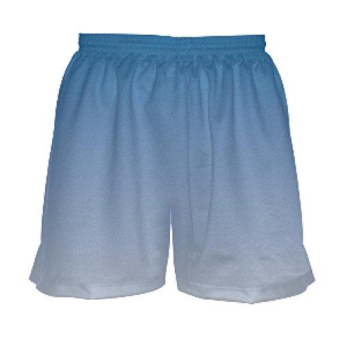 - Youth Girls Blue White Fade Lacrosse Shorts Youth Large, Blue
