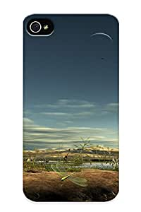 New Blessuotpx Super Strong Prehistoric Scenery Tpu Case Cover Series For Iphone 4/4s