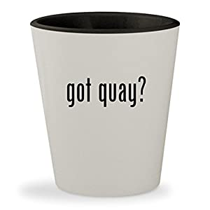 got quay? - White Outer & Black Inner Ceramic 1.5oz Shot Glass