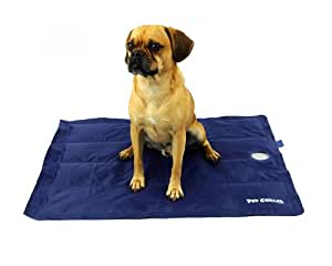 PlayaPup Pup Chiller Cooling Mat, Pressure Activated, Non-Toxic Gel, Blue, Large