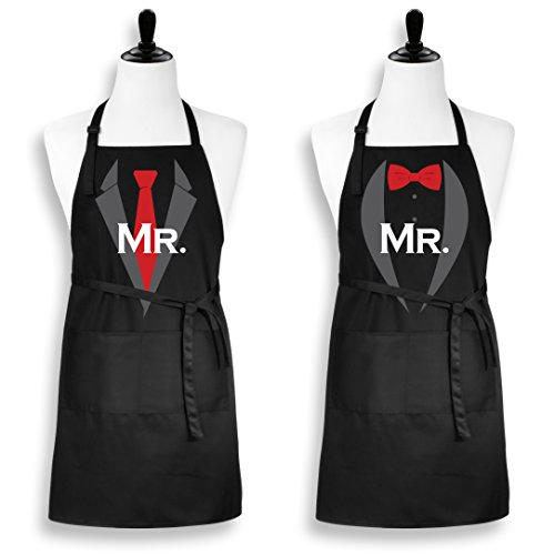 Amazoncom Mr And Mr Gay Couple Apron His And His Same Sex