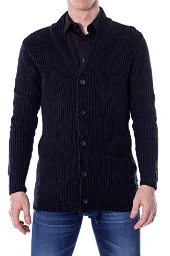 [해외]만 & Sons 남자 22003781BLUE 블루 코 튼 카디 건 / Only & Sons Men`s 22003781BLUE Blue Cotton Cardigan