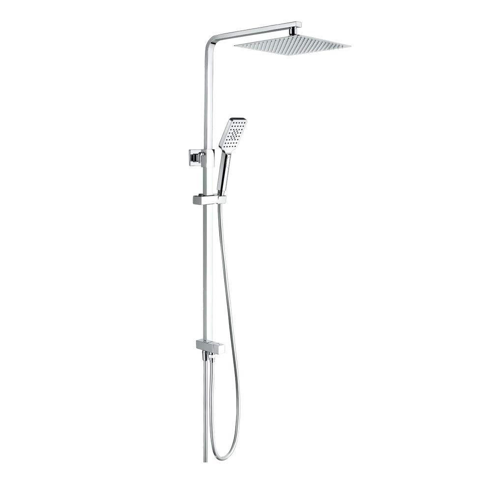 GRIFEMA G7006-COLUMNAS 1//2 pulgada manguera de ducha y soporte Grifo de ducha con ducha de mano de 3 funciones Cromo Columna de ducha cuadrado conectable a grifo con inversor