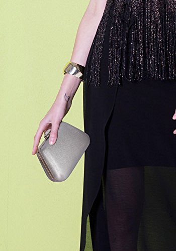 Hard Ladies Design 1 With Bag Case Silver Evening Clutch Womens Designer Chain Box design Different Handbag New 4IgIqr6w