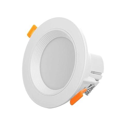 Starnearby - Lámpara LED de techo con sensor de movimiento, panel redondo, luces de