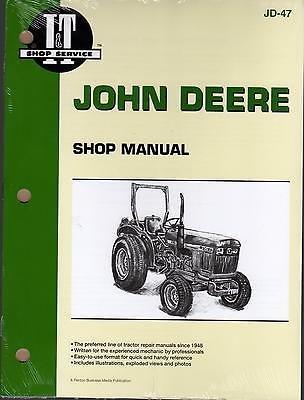 JOHN DEERE I&T DIESEL 850, 950, & 1050 TRACTOR SERVICE MANUAL NEW JD-47